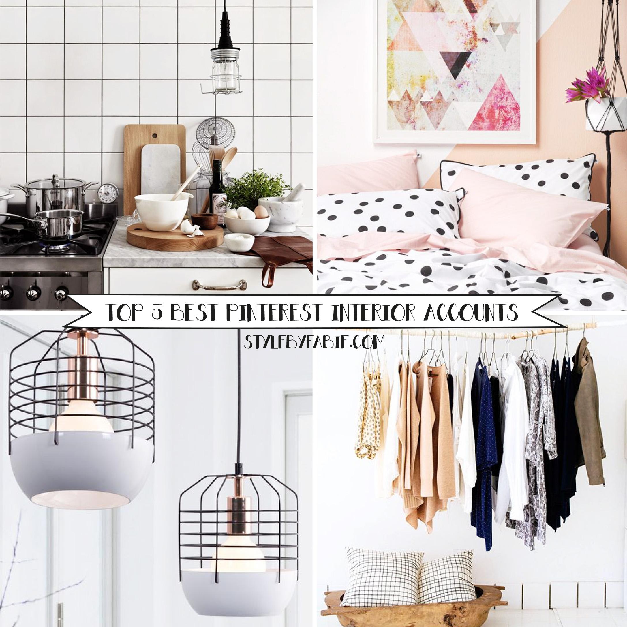 Top 5 best Pinterest interior accounts